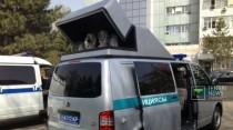 Автомобиль для считывания госномеров презентовали в полиции Алматы